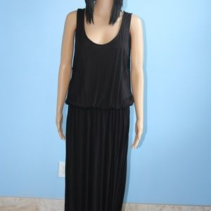 H&M Divided Black Maxi Dress Sleeveless Size L